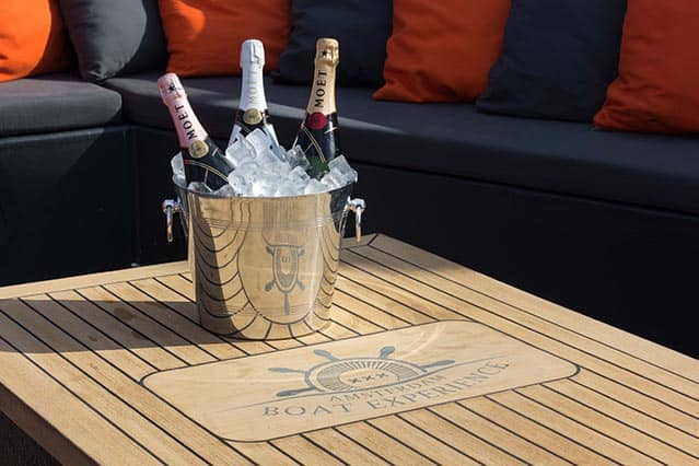 Champagne on Private boat the Nomag